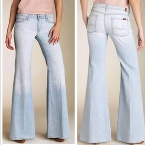 7 For all Mankind Jeans Super Flare Light Wash 30